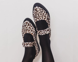 Pointed Leopard Creepers Mary Jane Shoes