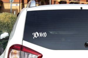 "Dio - Logo 5x2.5"" Vinyl Cut Sticker"