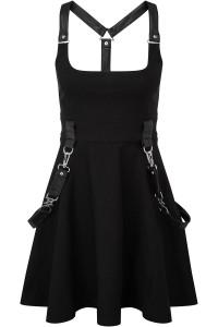 Oh My Ghoul Black Skater Dress