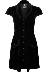 Maribella Black Industrial Velvet Dress