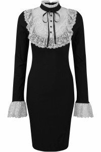 Rosemary Black Midi Dress