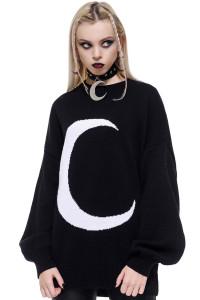 Selena Black Knit Sweater