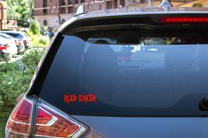 """Iced Earth - Logo 6x2"""" Vinyl Cut Sticker"""