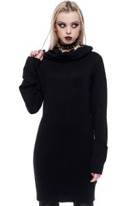 Type A Knit Black Sweater Dress