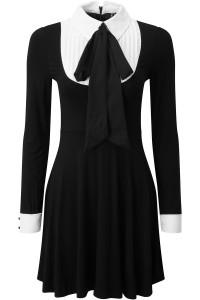 Lana Ribbon Black Dress