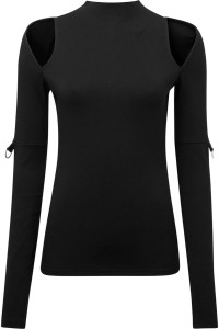 Nebula Black Long Sleeve Top