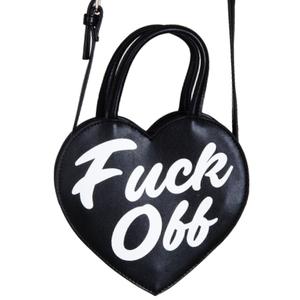 Heart Shaped Purse Crossbody Bag - F Off, F You