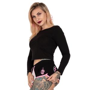 Fuck Off, Fuck You Black Pink  Cheeke Shorts