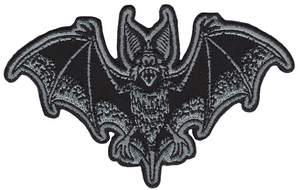 Bat Attack Grey Embroidered Patch