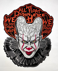 """It Pennywise Movie 6x7.5"""" Embroidered Backpatch"""
