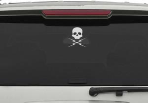 """Death Proof - Skull Logo 5x4.5"""" Vinyl Cut Sticker"""