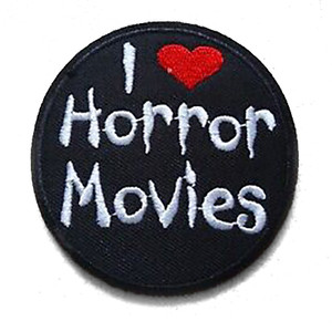 """I Love Horror Movies 2.7"""" Embroidered Patch"""