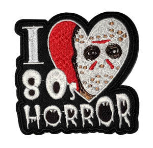 """I Love 80's Horror 3"""" Embroidered Patch"""