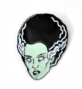Bride of Frankenstein Zombie Metal Pin