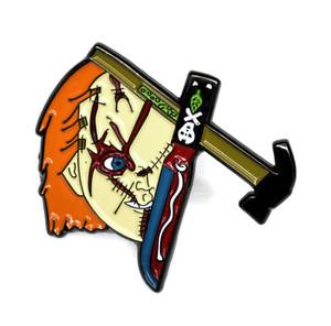 Chucky Half Face Metal Pin