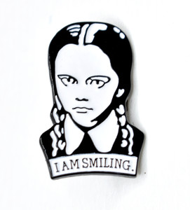 The Addams Family - Wednesday I am Smiling Metal Pin