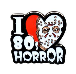 Friday 13th - Jason I Love 80's Horror Metal Pin