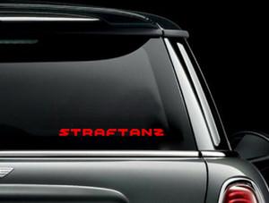 "Straftanz - Logo 7x0.5"" Vinyl Cut Sticker"