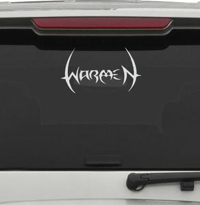 "Warmen - Logo 6x3"" Vinyl Cut Sticker"