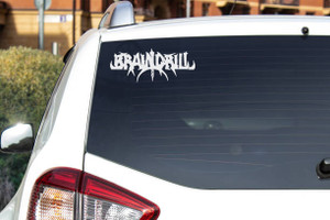 "Braindrill - Logo 6x4"" Vinyl Cut Sticker"