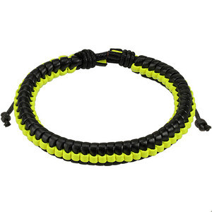 Black And Yellow Woven Bracelet