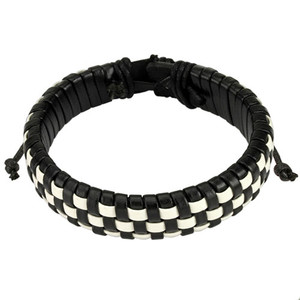 Black And White Woven Squares Bracelet