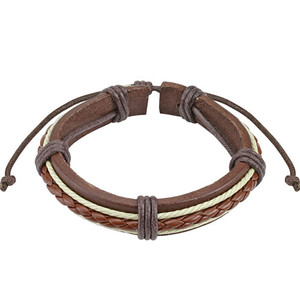 Brown and White Woven Bracelet