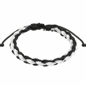 Black And White Woven Ties Bracelet