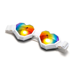 Heart-Shaped Ski Goggles & Snowboard Goggles - White
