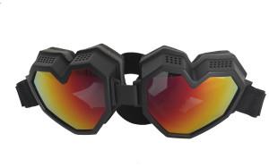 Black Heart Shaped Snowboard Goggles