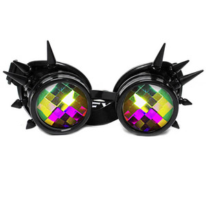 Black Kaleidoscope with Spikes Goggles