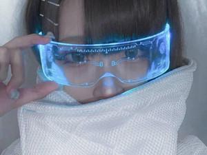 Cyberpunk LED Visor Glasses