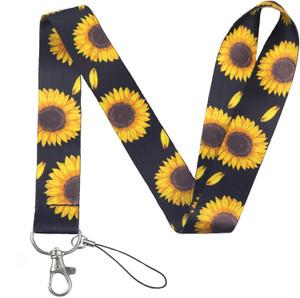 Sunflower Lanyard With Id Holder