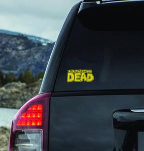"""The Walking Dead - Comic Logo 6x2.5"""" Vinyl Cut Sticker"""
