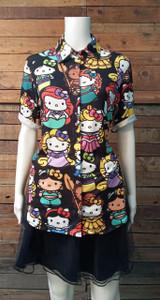 Hello Kitty as Disney Princess - Women's Button-Up Shirt