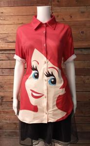 Little Mermaid - Ariel Women's Button-Up Shirt