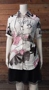 Sailor Moon - Serena  Women's Button-Up Shirt