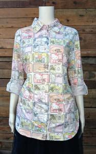Hello Kitty & Friends - Blue Women's Button-Up Shirt