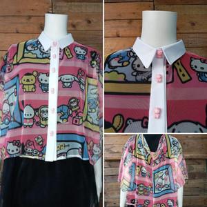 Hello Kitty - Women's Mesh Shirt