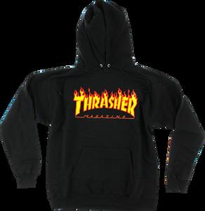 Thrasher Magazine - Flame Logo Black Hoodie