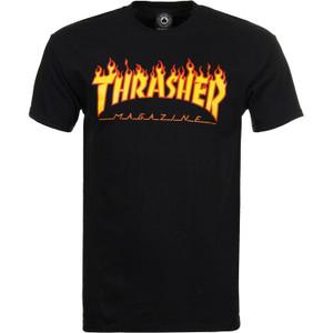 Thrasher Magazine - Flame Logo Black T-Shirt
