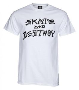 Thrasher Magazine - Skate And Destroy White T-Shirt