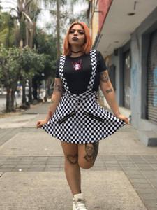 Checker Suspender Chess Skirt