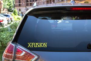 "X-Fusion - Logo 7x1.5"" Vinyl Cut Sticker"
