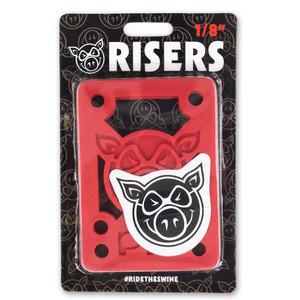 "Pig Piles 1/8"" Hard Skateboard Risers"