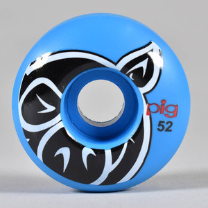 Pig Head Proline Blue Skateboard Wheels 52mm 101A (set of 4)