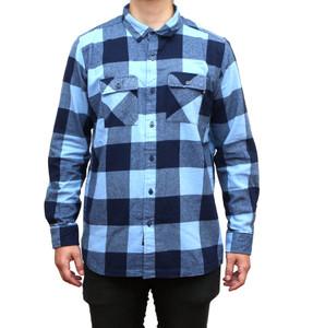 Big Blue Long Sleeve Flannel Shirt