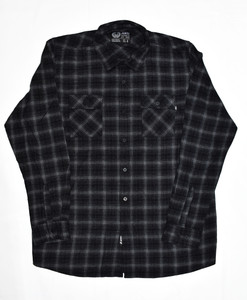 Black And White Long Sleeve Flannel Shirt