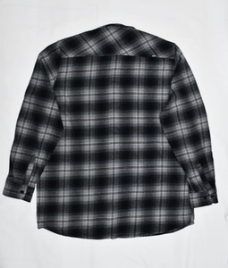 Grey & Green Plaid Long Sleeve Flannel Shirt