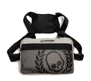Antifashion - Skull Grey Chest Bag